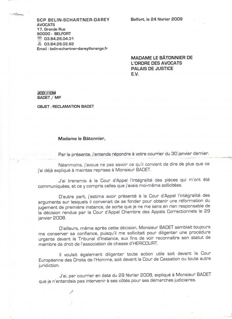 Les avocats - Reclamation reexpedition courrier ...